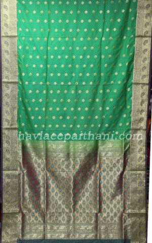 The black with maroon border in pochampally silk saree