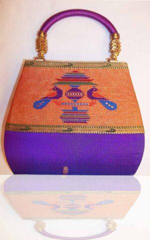 Magenta color Pathani Purse